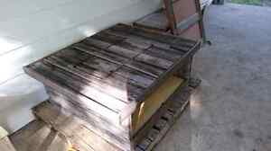 Rustic coffee table made from door