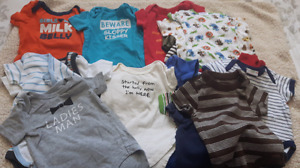 24 diaper shirts size 3/3-6 month
