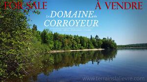 Lac Gagnon, Duhamel - 7+2 TERRAINS RIVERAINS HAUT DE GAMME
