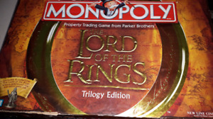 Lord of the Rings Board Game Set Lot of 4 Risk Monopoly LOTR