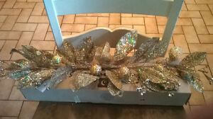Gold Glitter Christmas Swag by Home Interiors