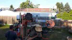 Portable wodmizer  Sawmill Service for hire