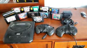 Sega Genesis + 2 Controllers + 12 games