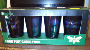 BREAKING BAD SET OF 4 GLASSES