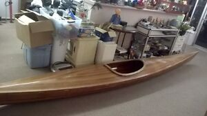 Vintage cedar wooden kayak for sale