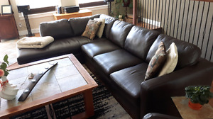 Natuzzi Leather Sectional Couch and/ or Recliner