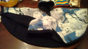 ADORABLE CARSEAT PONCHOS WITH MATCHING HAT