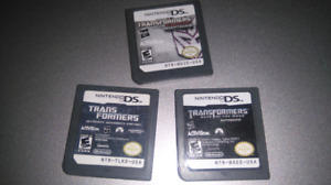 3 Transformers games for DS / 3DS Consoles