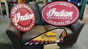 COOL HARLEY  INDIAN AND  OTHER MOTORCYCLE SIGNS