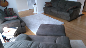 Set: Sofa, Loveseat, Chair, Ottoman - brown, large