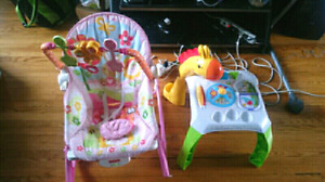 Girls Baby rocker and table interactive play stand