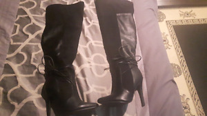 OBlack knee high boots never worn from just fab