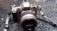 Nikon F55 Camera with 28-80mm Nikkor Lens