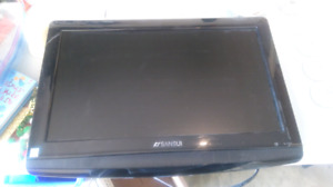 """19"""" Sansui TV with wall mount /DVD slot"""