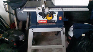 Ryobi 10 in. Portable Table Saw, used, comes with Blades