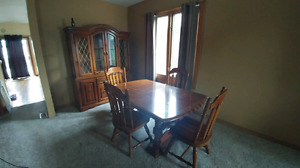 Nice hutch and Table with chairs