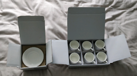 Espresso cups and saucers set