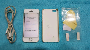 $120 Firm Iphone 5S Bell/Virgin good cond.+case+scr protector+