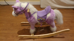 Rocking horse with neigh