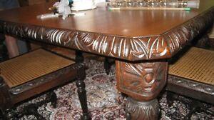 Antique Oak Dining Table (Price Drop)
