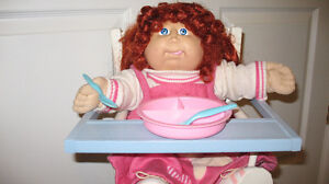 CABBAGE PATCH DOLL & HIGHCHAIR