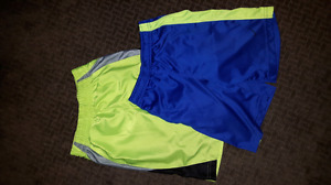 Two pairs boys athletic shorts size 7