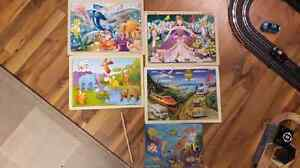 Wood puzzles (3 are melissa and doug)