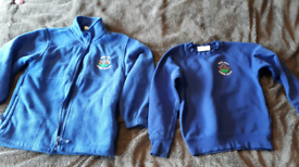 School jumper and sweatshirt