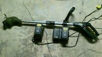 GRASS TRIMMER WITH TWO BATTERY AND CHARGERS
