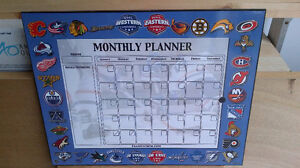 NHL Monthly Planner Board