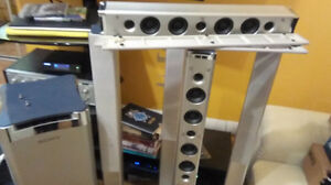 Sony 5.1 Solid metal, steel, sub, center, +4 towers speakers