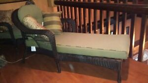 Brown wicker lounging chairs Cornwall Ontario image 3