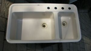 Evier double /  double sink