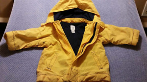 Boys Yellow Gap Lined Jacket 12mts,Whale Watching EUC
