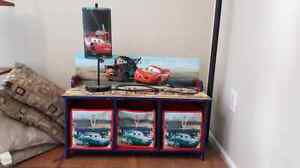 Cars shelf/bench and lamp