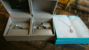 Rings and Necklace for Sale.