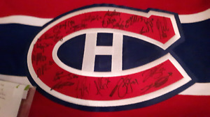 Montreal Canadiens team signed Carey price jersey