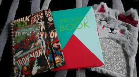 3x A5 note books