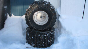 tires, wheel weights & chains for snow blowers & lawn tractors