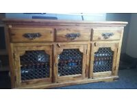 2 piece Sheesham wood side board and tv unit.