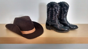 $20 Toddler felt cowboy hat and boots