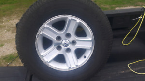 For sale good 4- 17 inch rims from 2008 Dodge ram $250.o.b.o