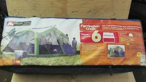 2 Room Cabin Tent with Screen Porch