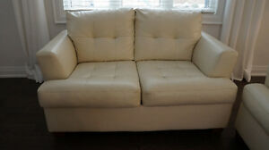 ASHLEY bonded leather love seat