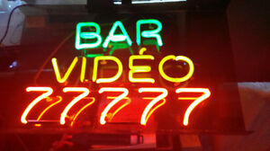 $$$Bar Video Game Neon Window Signs$$$
