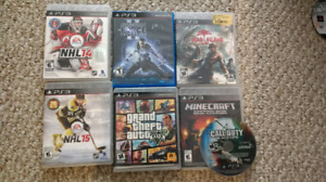 PlayStation 3, 2 controllers + 7 games