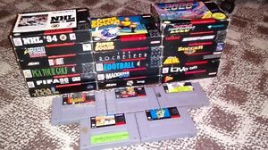 SNES games/packaging for sale!