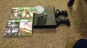 Xbox 360 with games + 2 wireless controllers