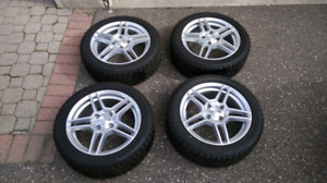 Ford Fiesta Winter Tires with Alloy Rims and TPMS