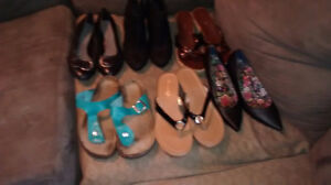 6 pairs of shoes